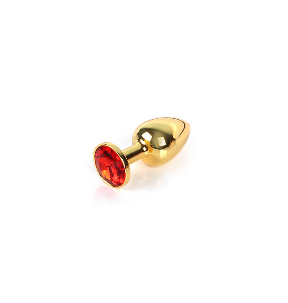 GOLDEN PLUG SMALL (втулка анальная) цвет кристалла красный, L 72 мм, D 28 мм, вес 50г