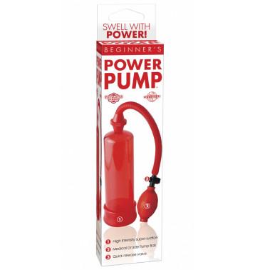 Помпа мужская BEGINNER's POWER  красная