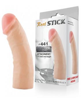Фаллоимитатор для страпона, L-18,5 см, D-4,4 см