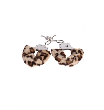 Металлические наручники с мехом METAL HANDCUFF леопард