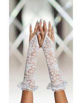 Перчатки кружевные белые