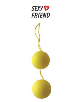 """Вагинальные шарики """"Balls"""" желтые"""