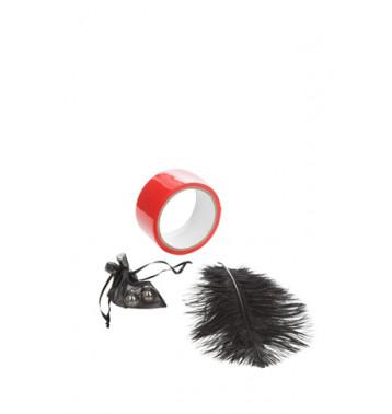 Набор игровой металлические шарики, скотч - лента, перо, Scandal Red Room Kit