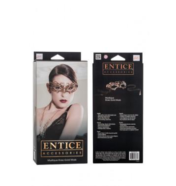 Маска золотистая Entice Mystique Mask - Rose Gold