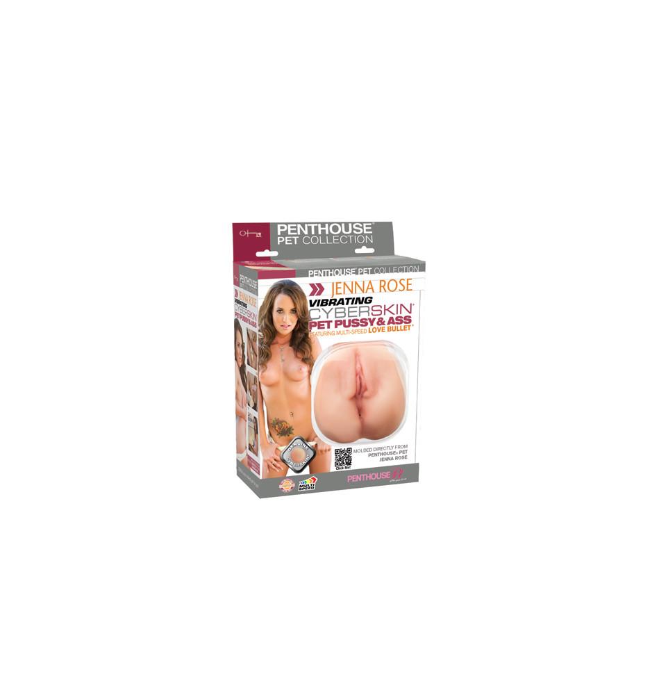 Мастурбатор вагина и анус Jenna Rose Pussy and Ass телесный с вибрацией