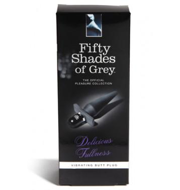 Анальная пробка Delicious Fullness Vibrating Butt Plug с вибрацией черная