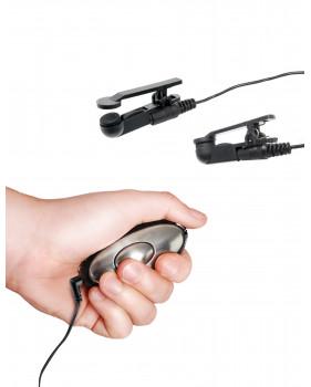Электрические зажимы для сосков Shock Therapy черные