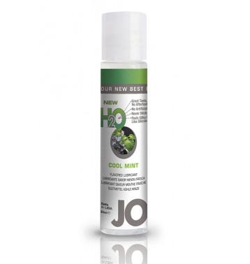 Ароматизированный любрикант на водной основе JO Flavored Cool Mint H2O 30 мл
