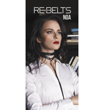 ЧОКЕР ДВА ОБОРОТА NOA BLACK 7710REBELTS