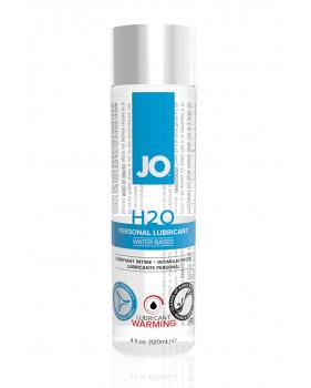 Возбуждающий любрикант на водной основе JO Personal Lubricant H2O Warming, 4 oz (120мл.)