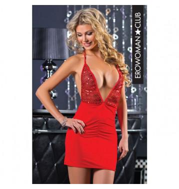 Платье красное 20294