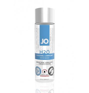 Возбуждающий любрикант на водной основе JO Personal Lubricant H2O Warming, 8 oz (240мл.)