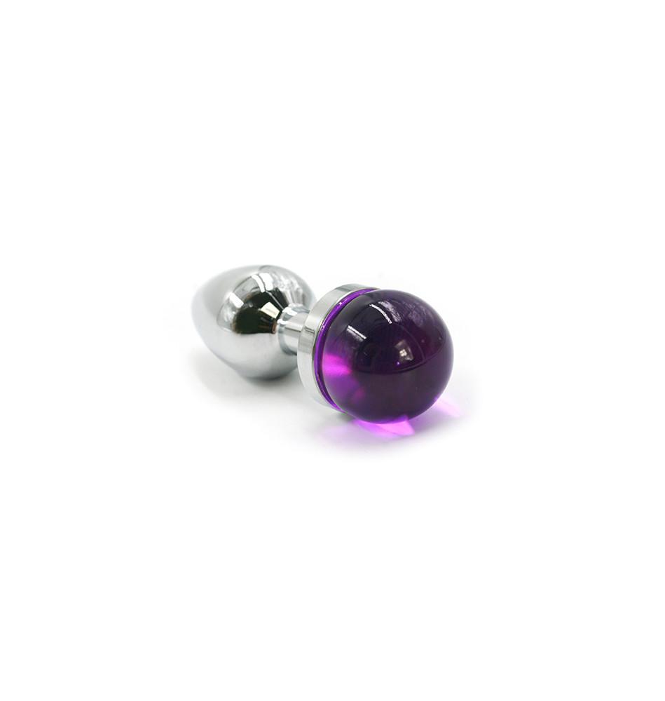 Анальная пробка из аллюминия purple