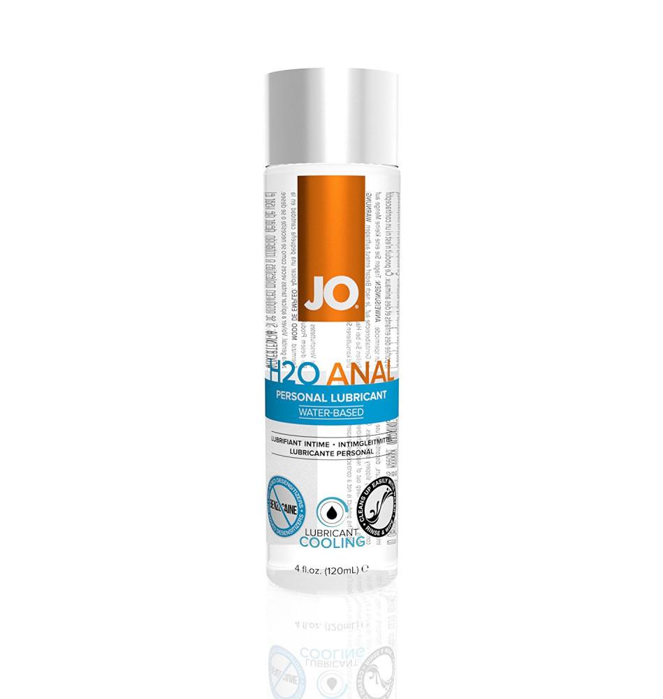 Анальный охлаждающий любрикант обезболивающий на водной основе JO Anal H2O COOL, 4.5 oz (120 мл)