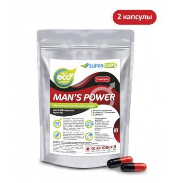 Средство возбуждающее с L-carnitin Man's Power, 2 капсулы