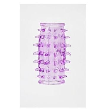Насадка на фаллос открытая с шипами цвет фиолетовый
