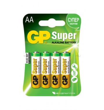 Батарейка АА (алкалин) в блистере по 4 шт.