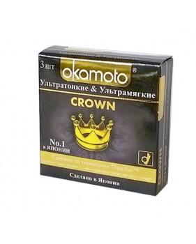 Презервативы Okamoto Crown 3шт