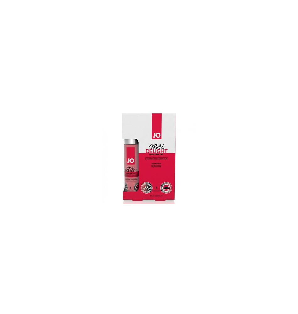 Лубрикант для оральных ласк Oral Delight - Strawberry Sensation клубничный 30 мл