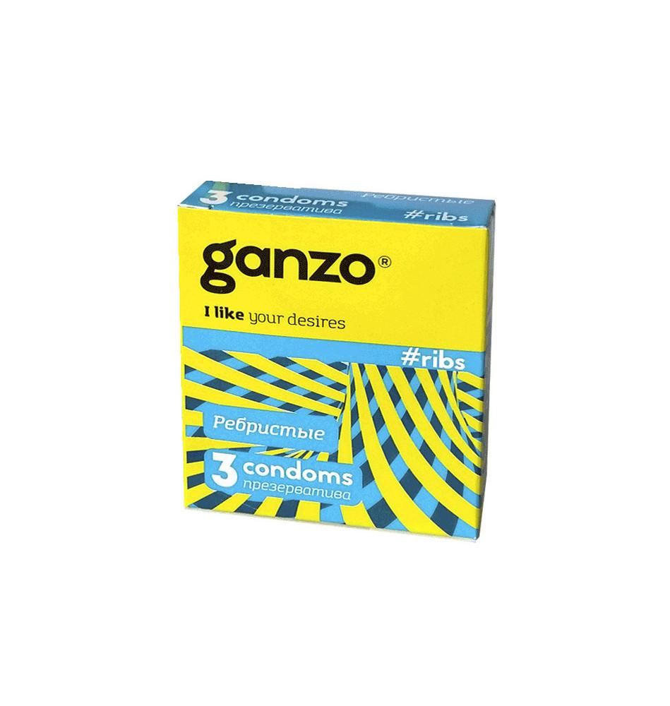 Презервативы Ganzo Ribs N3
