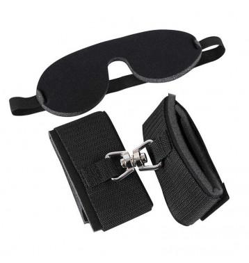 Набор: ленты, наручники-манжеты, маска на глаза