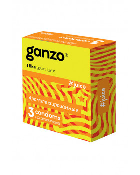 Презервативы GANZO Juice №3 - Фруктовые презервативы