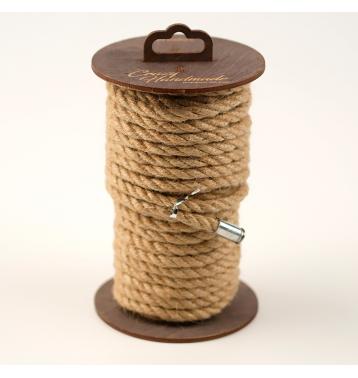 Джутовая веревка для шибари на катушке, 10 м.