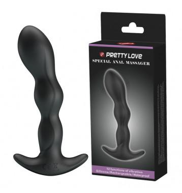 Анальный длинный вибромассажер - цепочка Baile PrettyLove Special Anal Massager