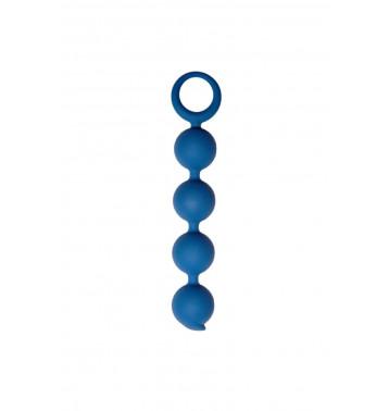 Анальная цепочка Appulse, силикон, 2,5 x 13 см , цвет кобальт