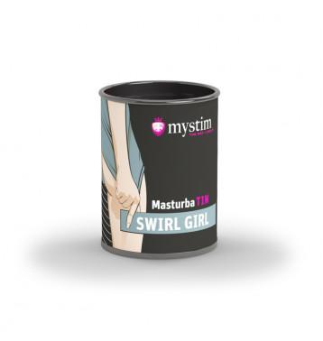 Компактный универсальный минимастурбатор рельеф водоворот Mystim MasturbaTIN Swirl Girl - Waves