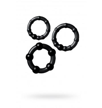 Набор из трех колец, силикон, прозрачный