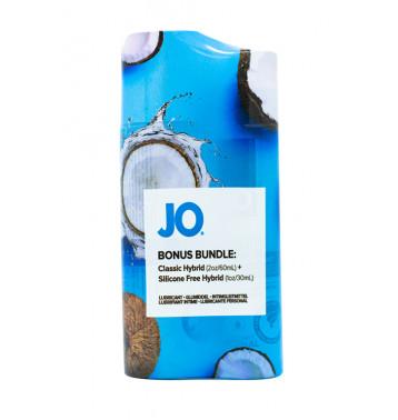 Набор из лубрикантов Hybrid водно-силиконовый и водно-кокосовый