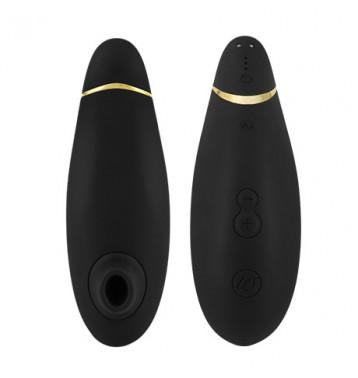 Бесконтактный клиторальный стимулятор Womanizer Premium черный/золотой