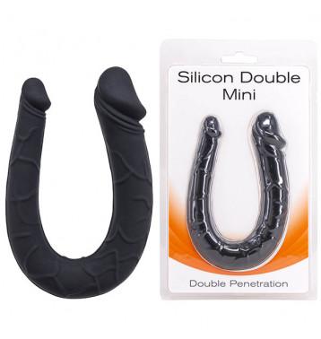 Двусторонний минифаллоимитатор Silicon Double Mini черный
