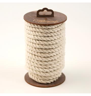 Хлопковая веревка для шибари, на катушке (Белая), 20 м.