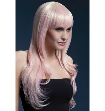 Парик Сладкая Сиенна с розовыми волосами