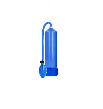 Ручная вакуумная помпа для мужчин с насосом в виде груши Classic Penis Pump синяя