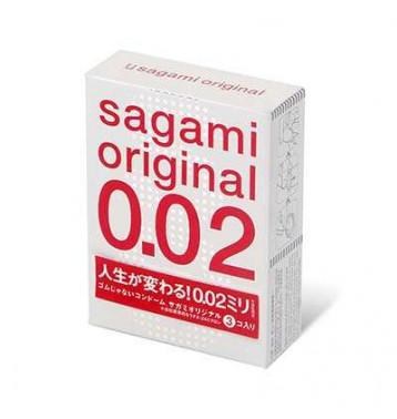 Презервативы SAGAMI Original 002 полиуретановые 3шт.
