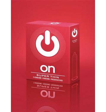 Презервативы On super thin - ультратонкие, ультракомфортные 3 шт