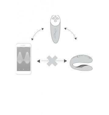 Сенсорный вибромассажер для пар We-Vibe Chorus Purple