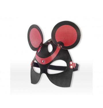 Маска Мышка черный с красным