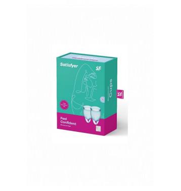 Набор менструальных чаш Satisfyer Feel confident Menstrual Cup (light blue)