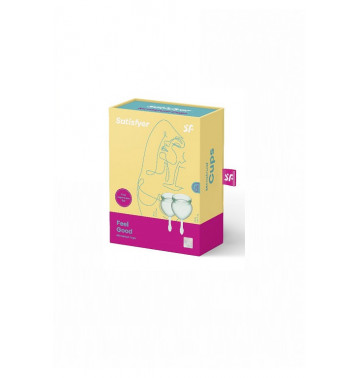 Набор менструальных чаш Satisfyer Feel good Menstrual Cup (light green)