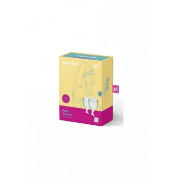 Набор менструальных чаш Satisfyer Feel secure Menstrual Cup (light green)