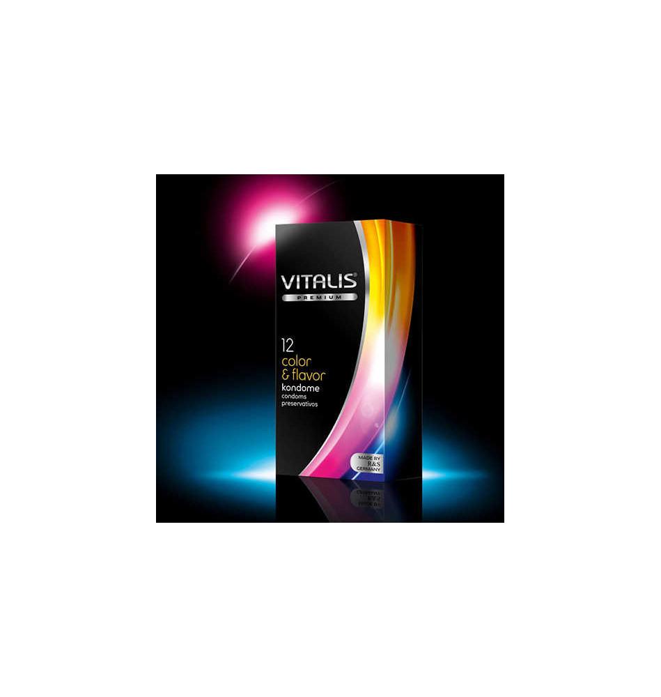 Презервативы VITALIS Premium №12 Color & Flavor, цветные ароматизированные