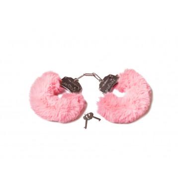 Шикарные наручники с пушистым мехом пастельно розового цвета (Be Mine)