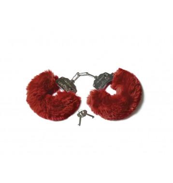 Шикарные наручники с пушистым мехом винного цвета (Be Mine)