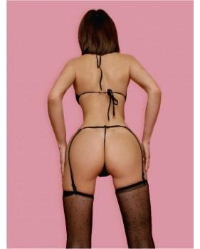 Комплект эротического белья черный L/XL