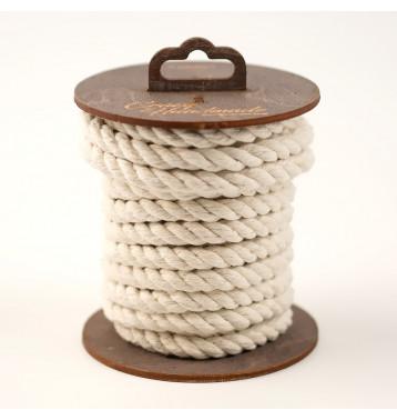 Хлопковая веревка для шибари, на катушке (Белая), 5 м.
