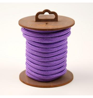 Нейлоновая веревка для шибари, на катушке (Фиолетовая), 5 м.